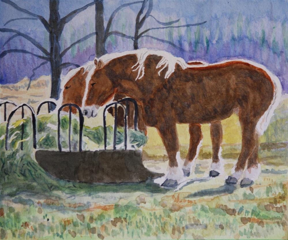 """Belgian Teamwork"" original fine art by Terri-Anne Barge"