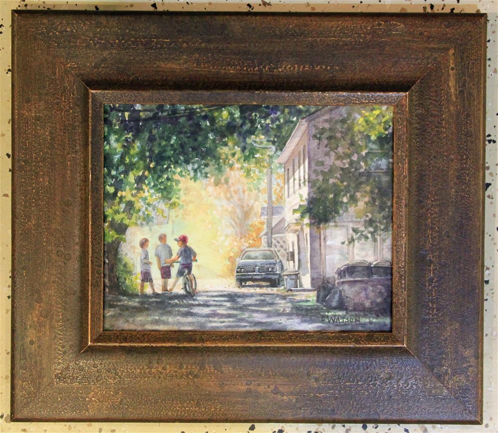 """Summer Meeting"" original fine art by Deb Watson"