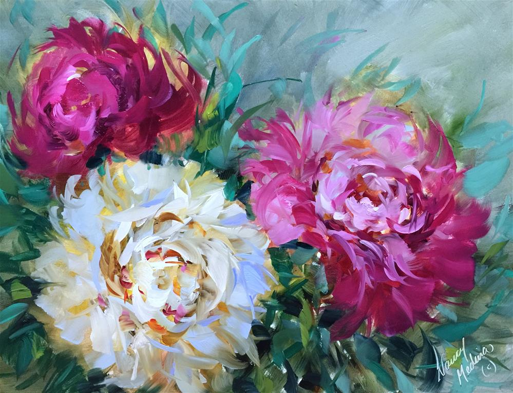 """Pinwheels and Peonies - Nancy Medina Art Videos and Classes"" original fine art by Nancy Medina"
