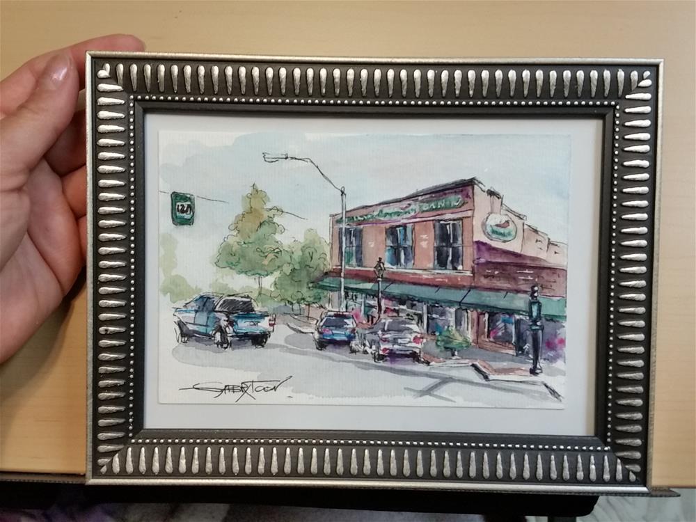 """A Little City"" original fine art by Gabriella DeLamater"