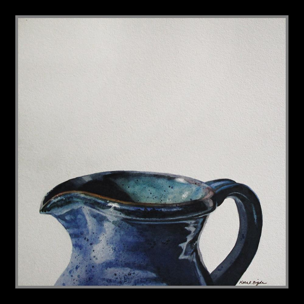"""Blue Pitcher"" original fine art by Kara K. Bigda"