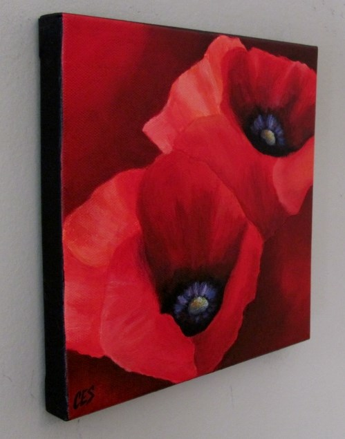 """Red Poppies"" original fine art by ~ces~ Christine E. S. Code"