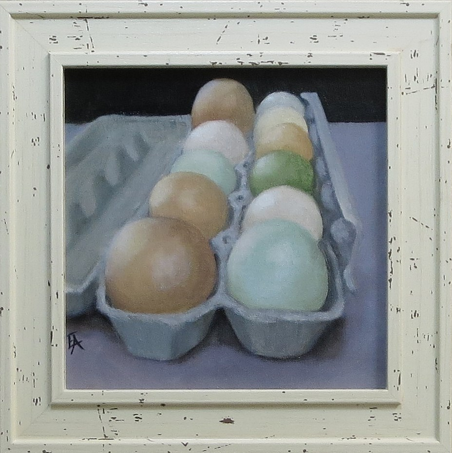 """Eggs of a Different Color"" original fine art by Elizabeth Elgin"