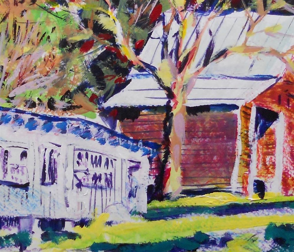 """""""Chicken House and Wagon Shed by Larry Lerew #121003"""" original fine art by Larry Lerew"""