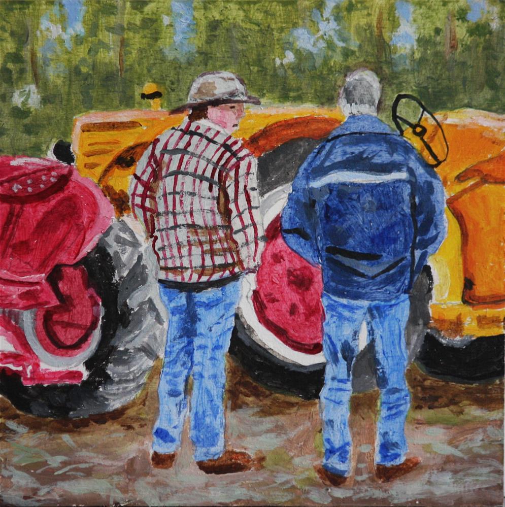"""Talking Tractors"" original fine art by Terri-Anne Barge"