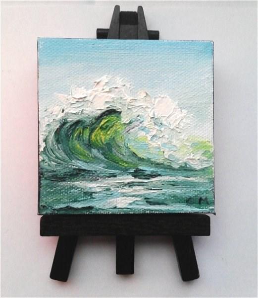 """Green Wave"" original fine art by Camille Morgan"