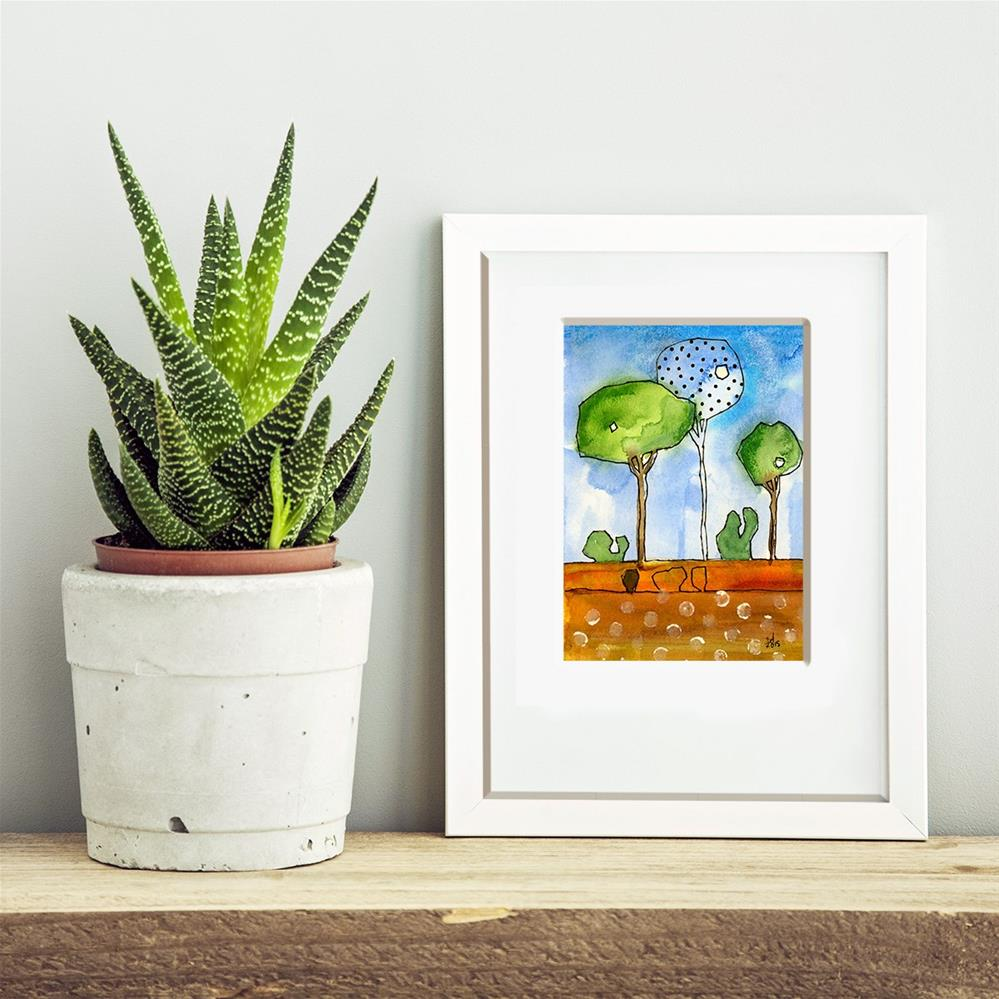 """Parkish - 2"" original fine art by Tonya Doughty"