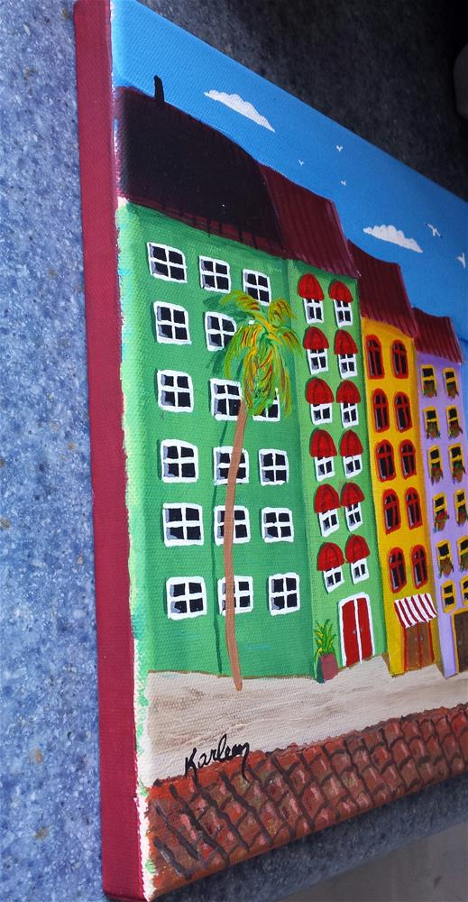 """Coastal Condos"" original fine art by Karleen Kareem"