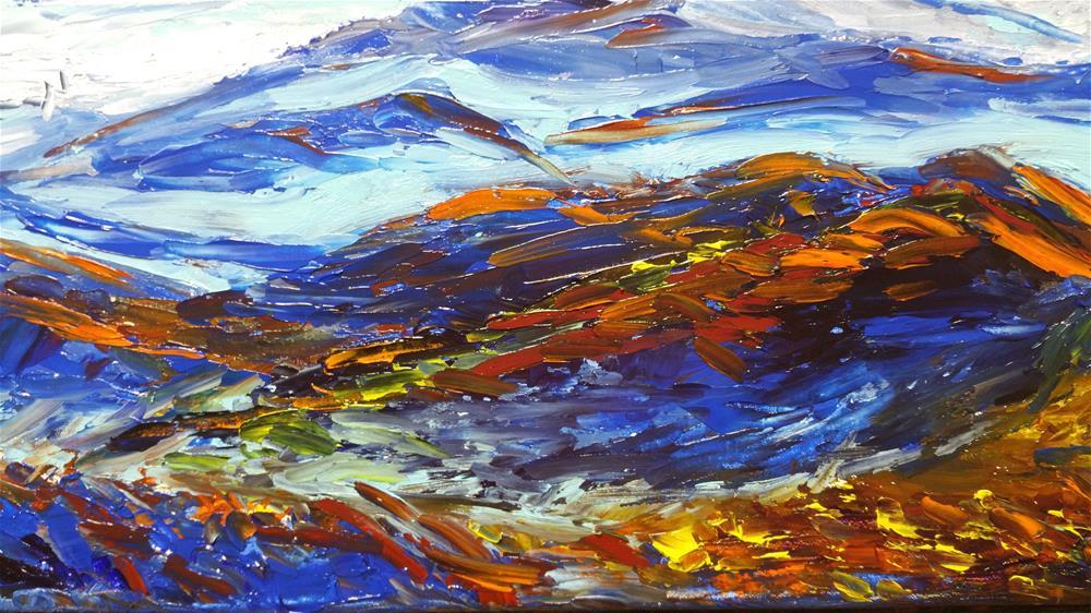 """Sun Rise on Blue Ridge Mountain"" original fine art by Sun Sohovich"