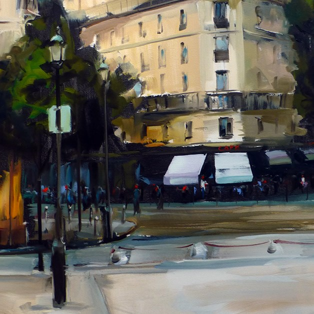 """Straße von Paris"" original fine art by Jurij Frey"