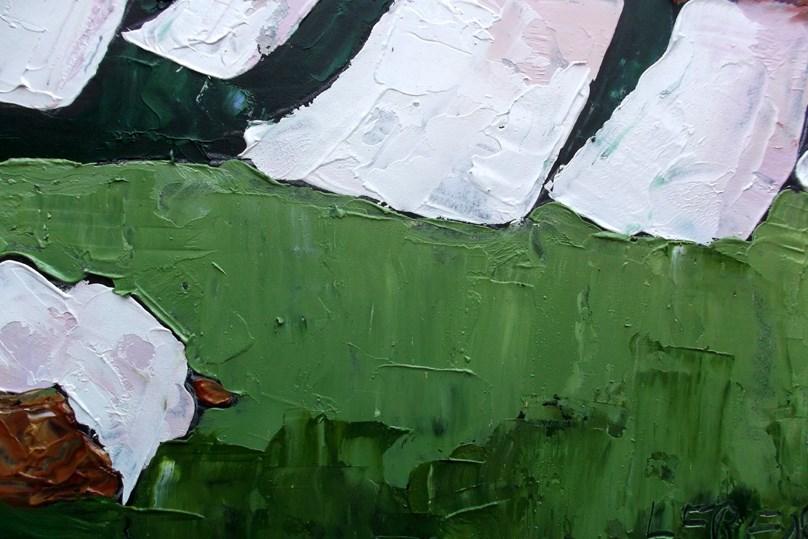 """Backyard Laundry"" original fine art by lynne french"