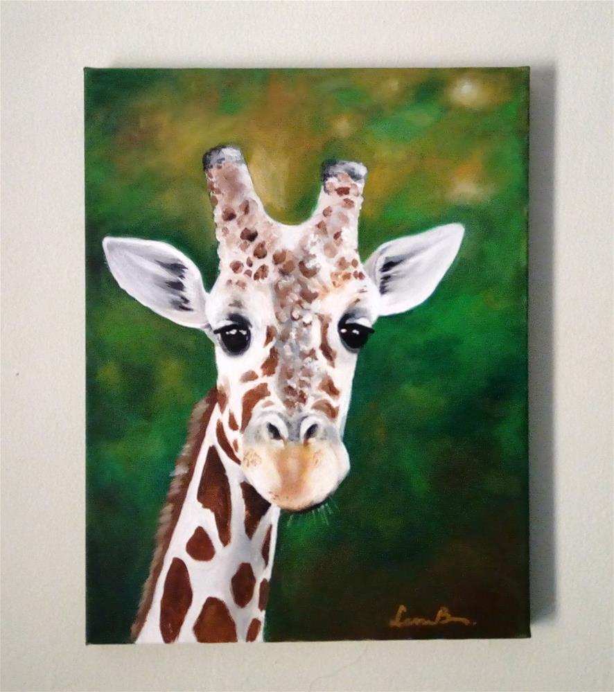 """Giraffe Portrait"" original fine art by Laura B."
