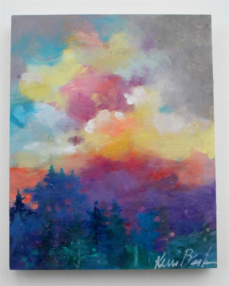 """""""Summer Sunset"""" original fine art by Kerri Blackman"""