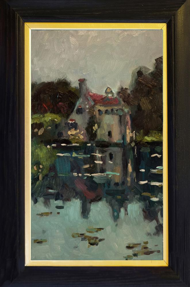 """The Lake at Scotty Castle"" original fine art by Andre Pallat"