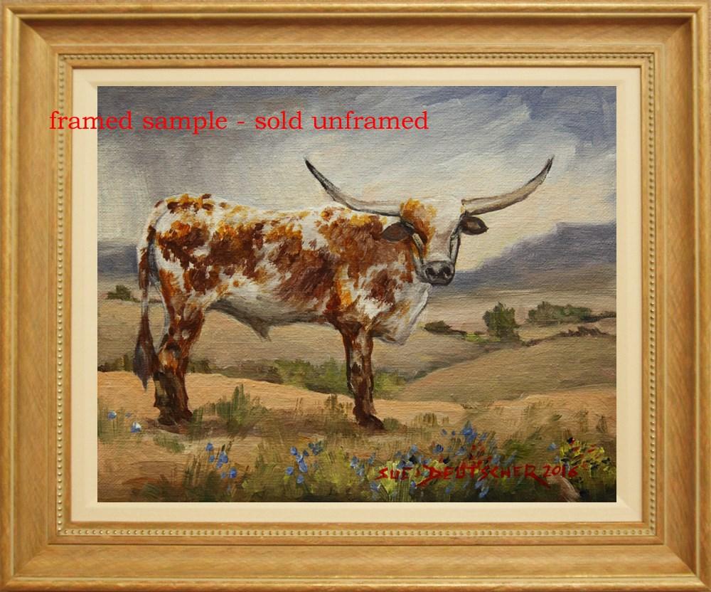 """""""Texas Longhorn Steer"""" original fine art by Sue Deutscher"""