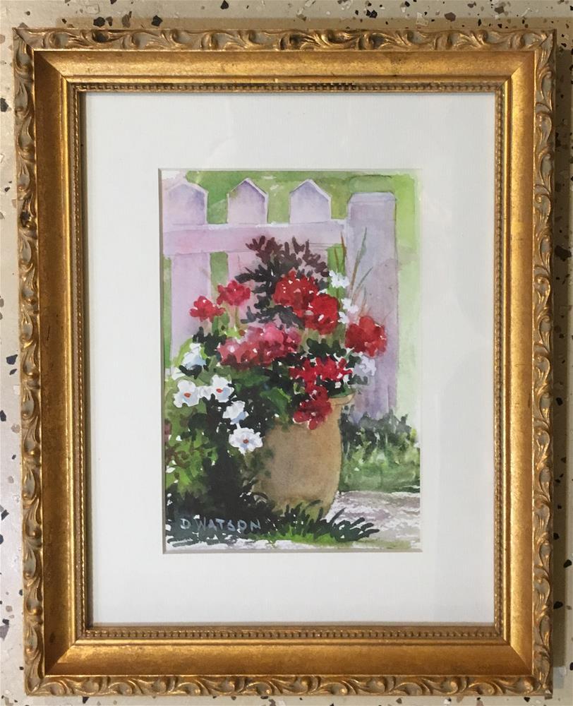 """Geranium Study"" original fine art by Deb Watson"