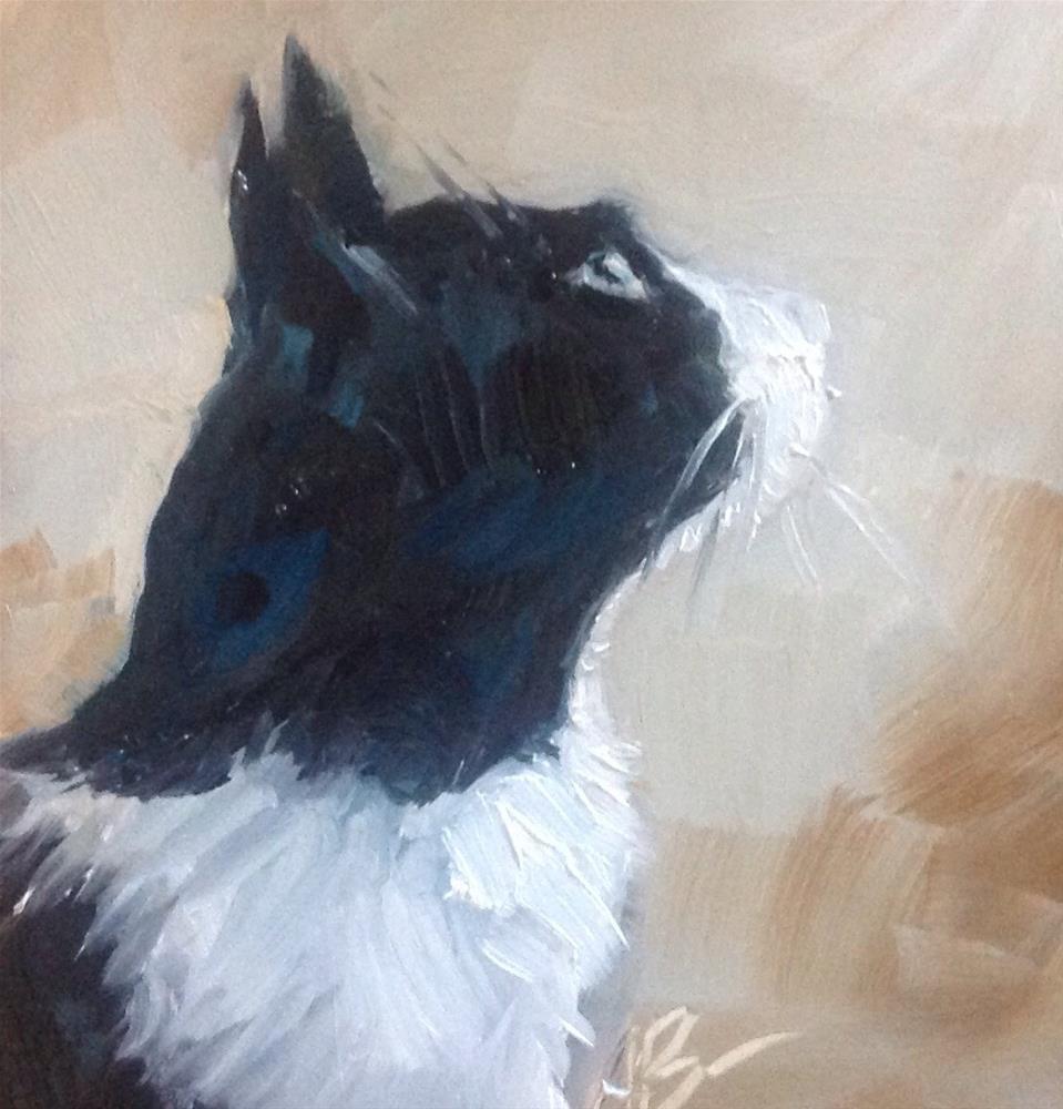 """""""Watchful Max"""" original fine art by Annette Balesteri"""