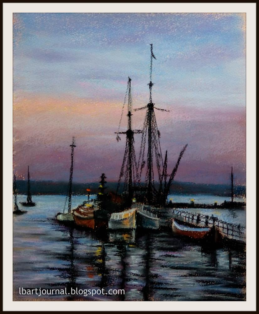 """Nightfall"" original fine art by Laura B."