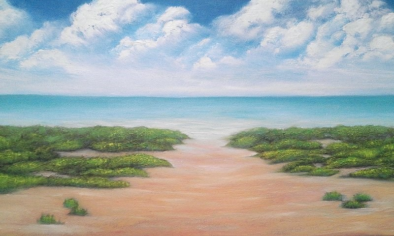 """Beach"" original fine art by Camille Morgan"