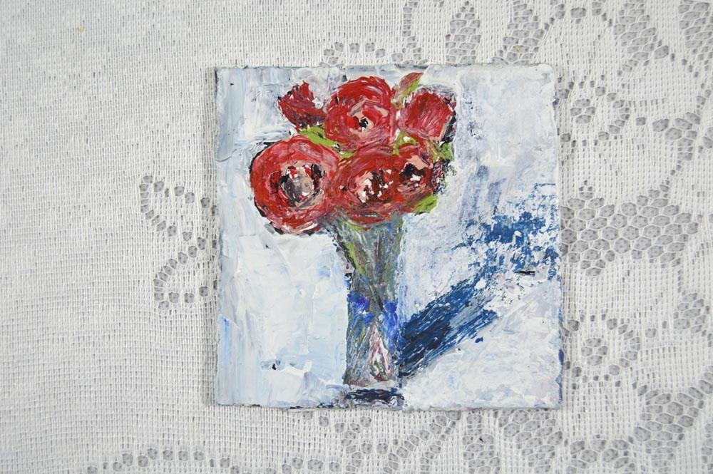 """Flower Series No 9"" original fine art by Katie Jeanne Wood"