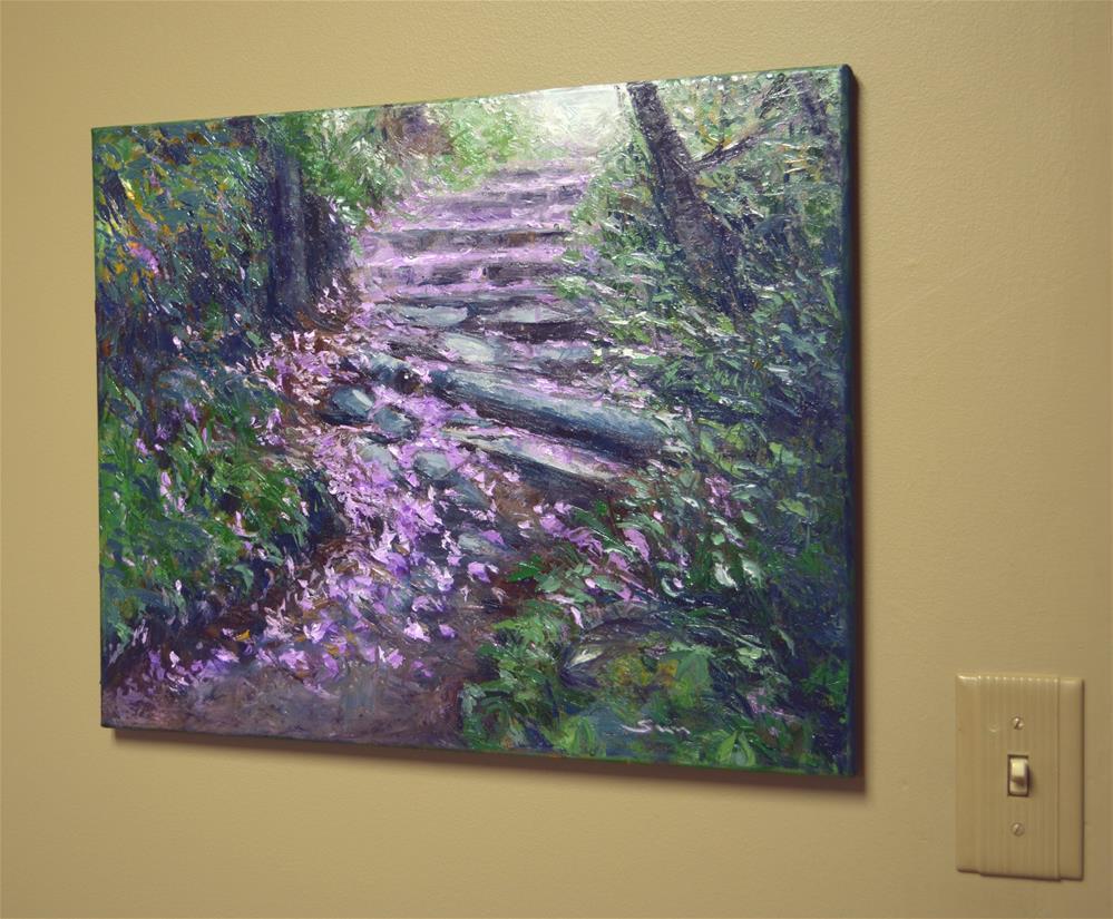 """""""Walking on flower petals"""" original fine art by Sun Sohovich"""