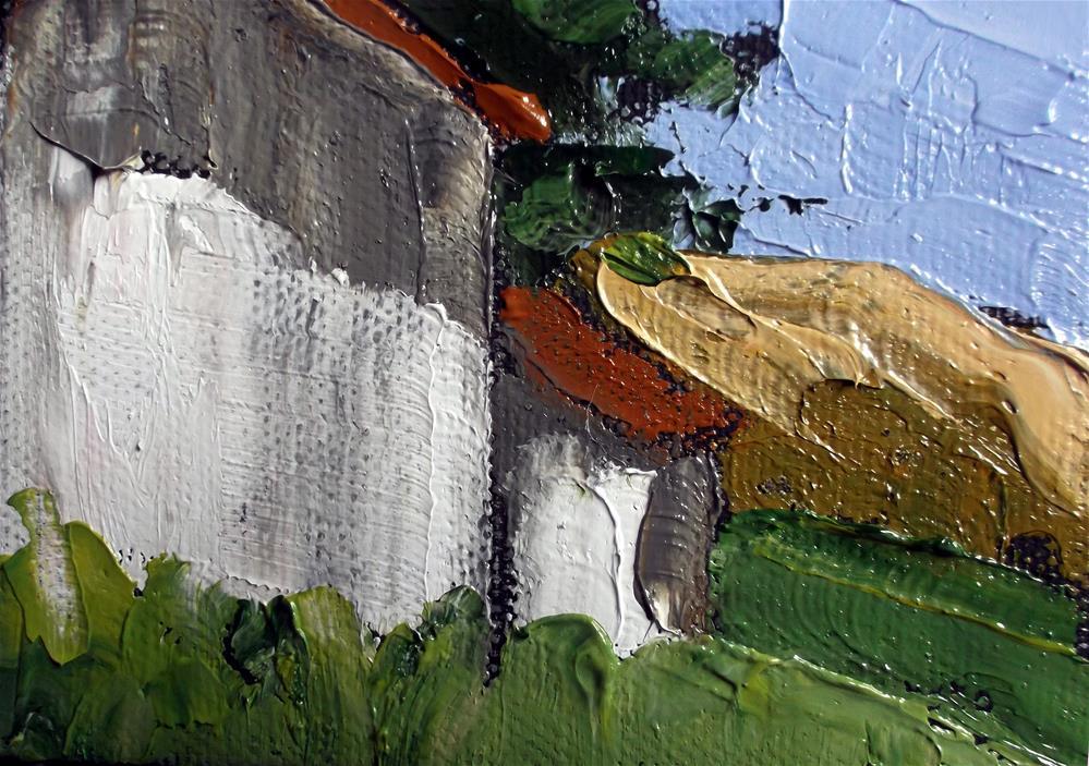 """""""Miniature Califrnia Barn"""" original fine art by lynne french"""