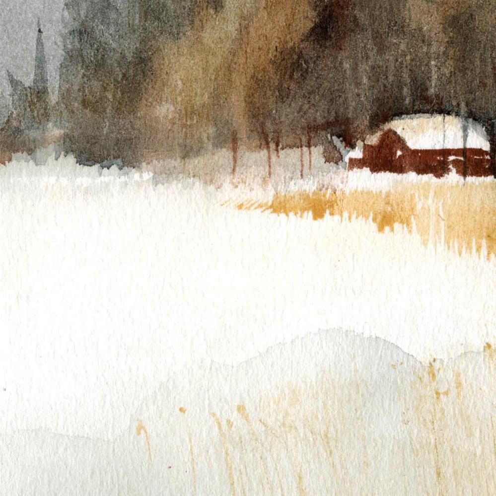 """""""Snowy 7"""" original fine art by Emilio López"""
