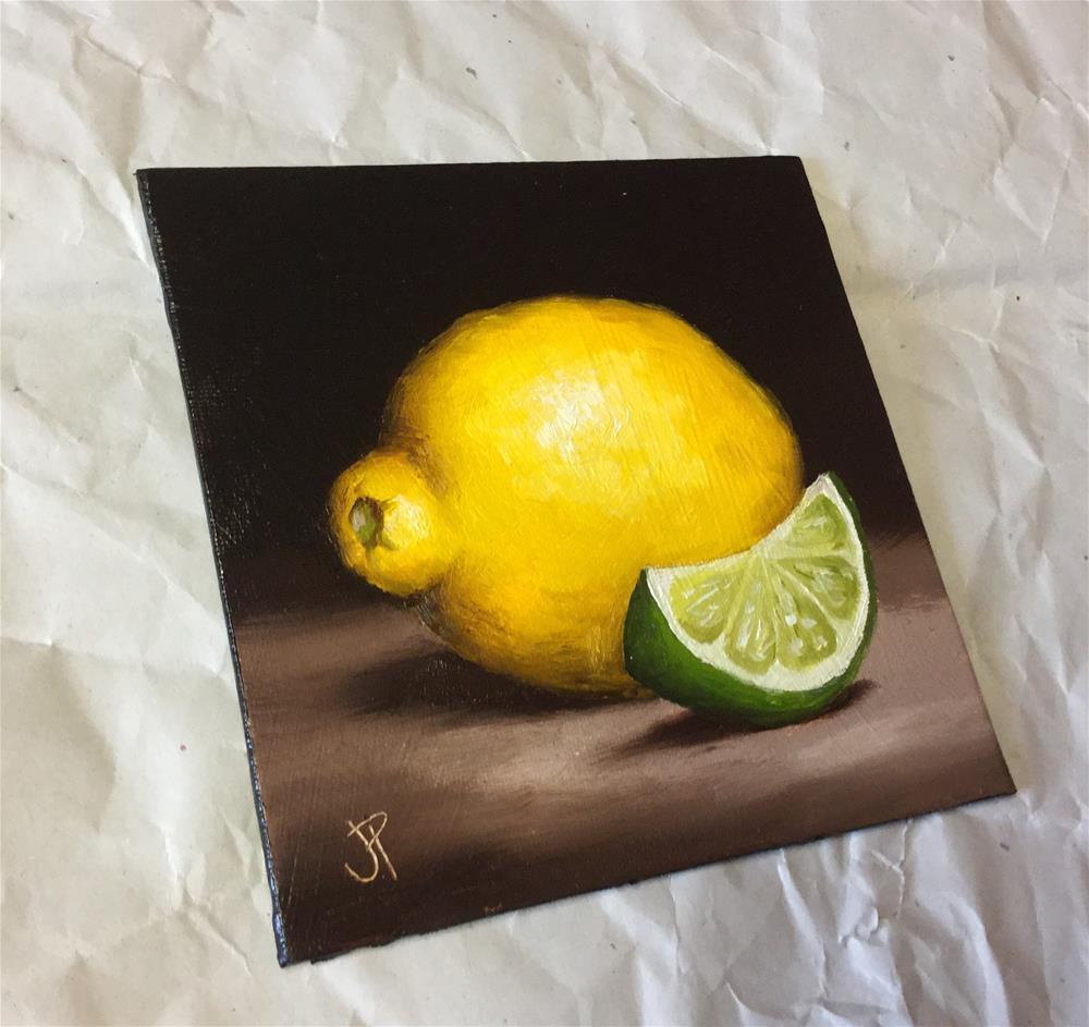"""Lemon and Lime"" original fine art by Jane Palmer"