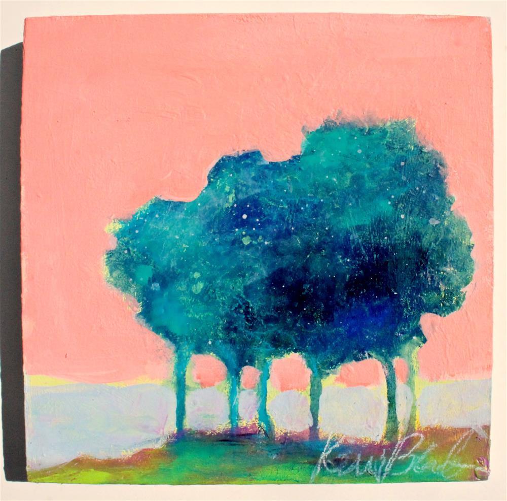 """Trees at Sunset "" original fine art by Kerri Blackman"