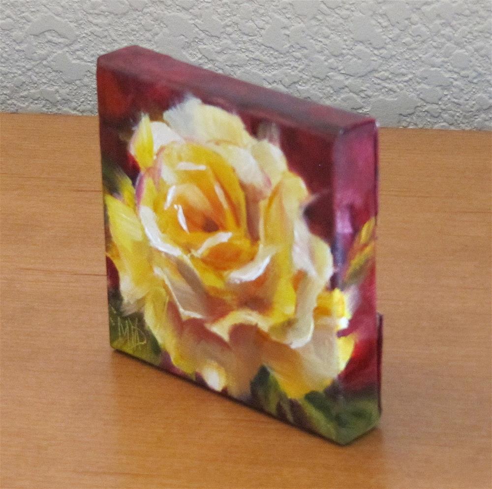 """Sunshine Rose"" original fine art by Mary Van Deman"