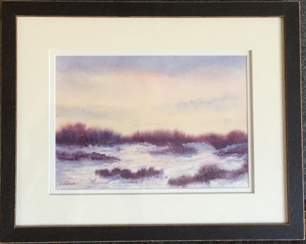 """Purple Haze Framed"" original fine art by Vikki Bouffard"