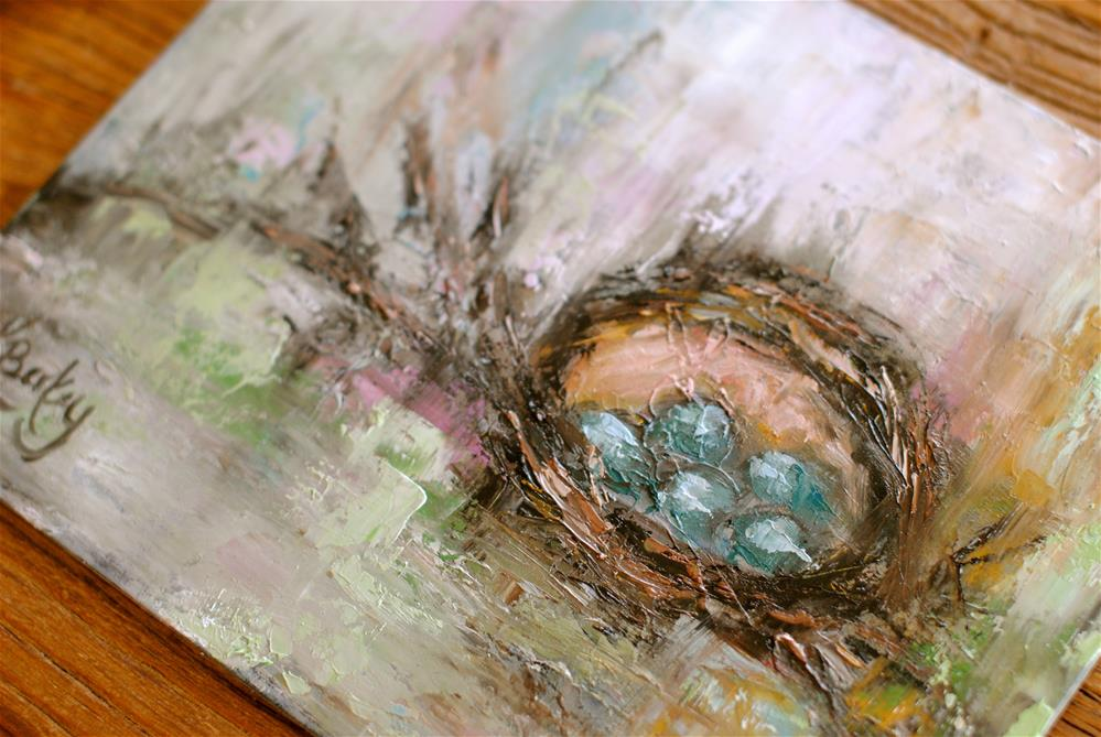 """Her Nest"" original fine art by Kelly Berkey"