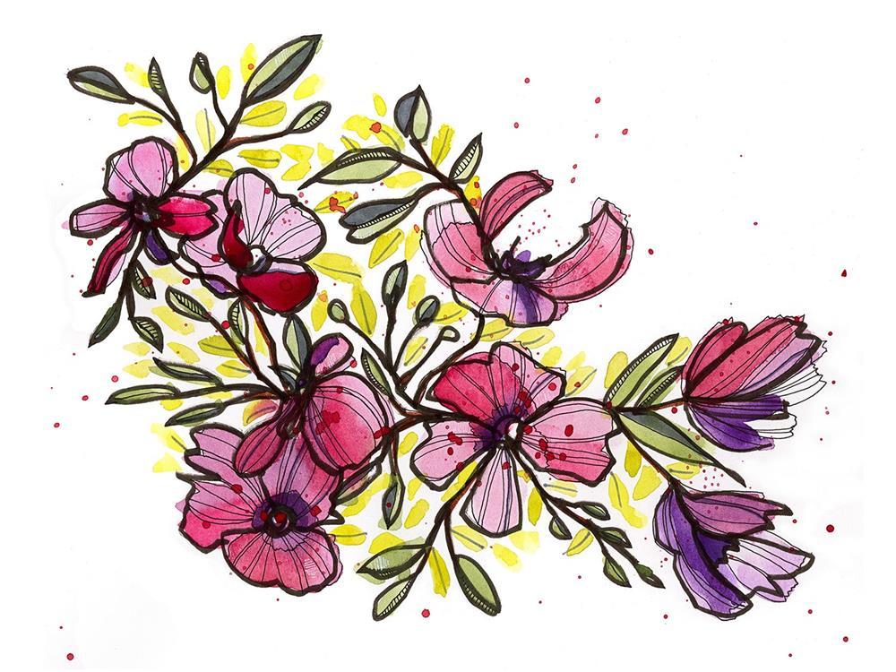 """Pink on Parade"" original fine art by Tonya Doughty"