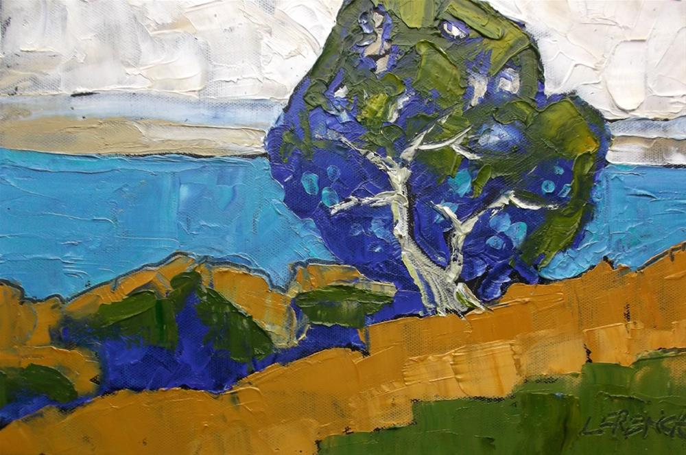 """Monterey Bay Pacific Oak"" original fine art by lynne french"