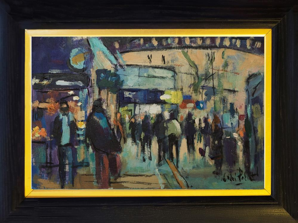 """Outside London's Victoria Station"" original fine art by Andre Pallat"