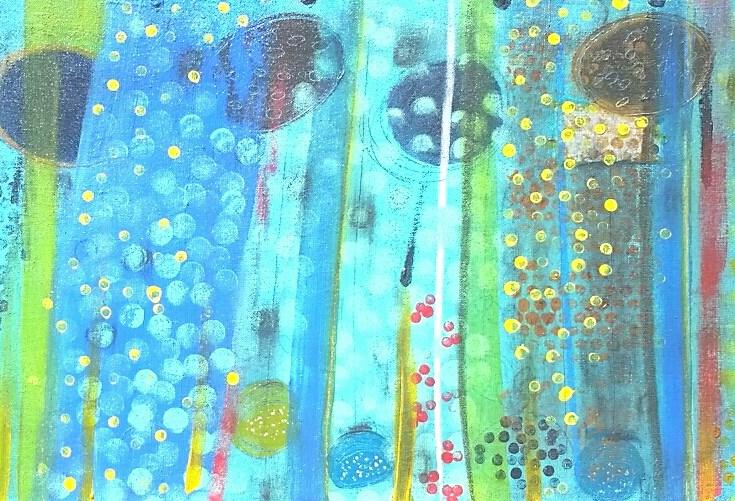 """Gardens Awake 7"" original fine art by Christy Tremblay"