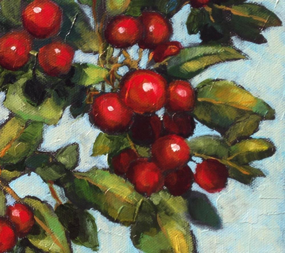 """Crabapples"" original fine art by Nancy F. Morgan"