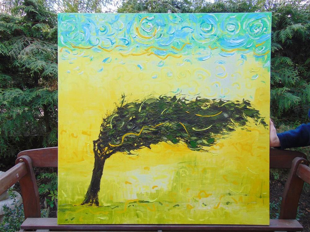"""Desert tree"" original fine art by Elena Lunetskaya"