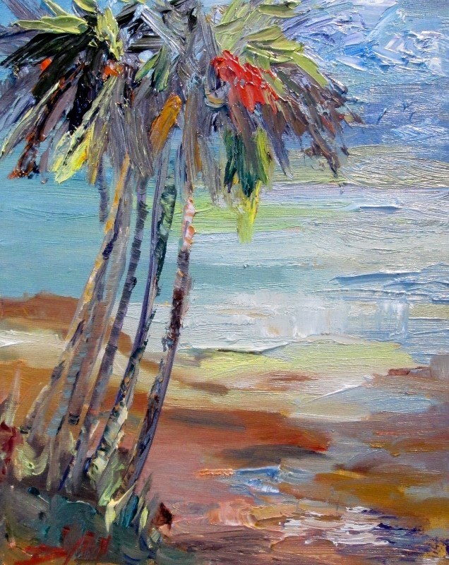 """Tropical Seascape No.2"" original fine art by Delilah Smith"