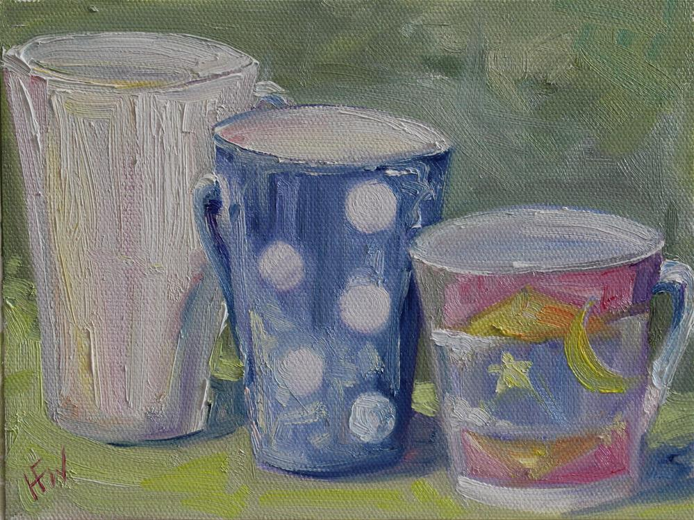 """Mismatched Mugs"" original fine art by H.F. Wallen"