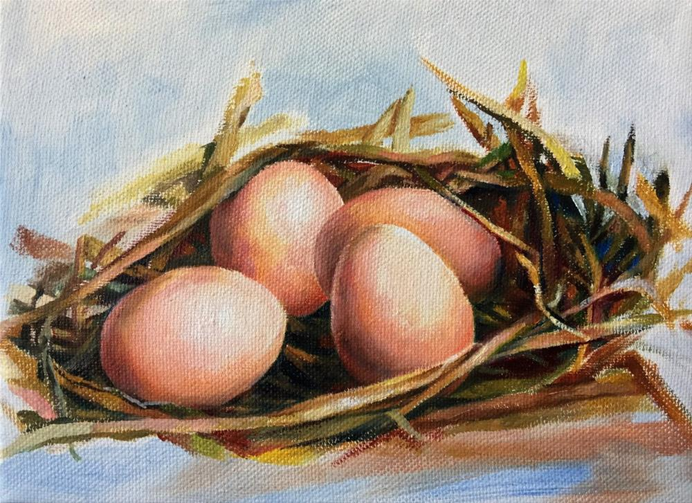 """Eggs"" original fine art by Joy Cai"