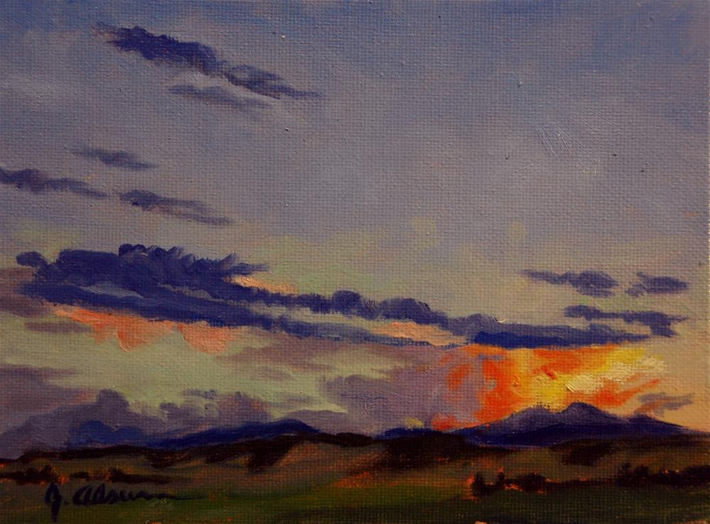 """Sunset Over Longs Peak"" original fine art by Gary Alsum"