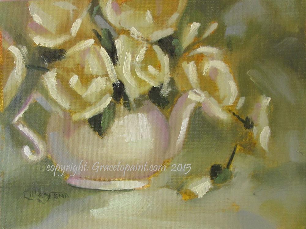 """Creamy Brew"" original fine art by Maresa Lilley"