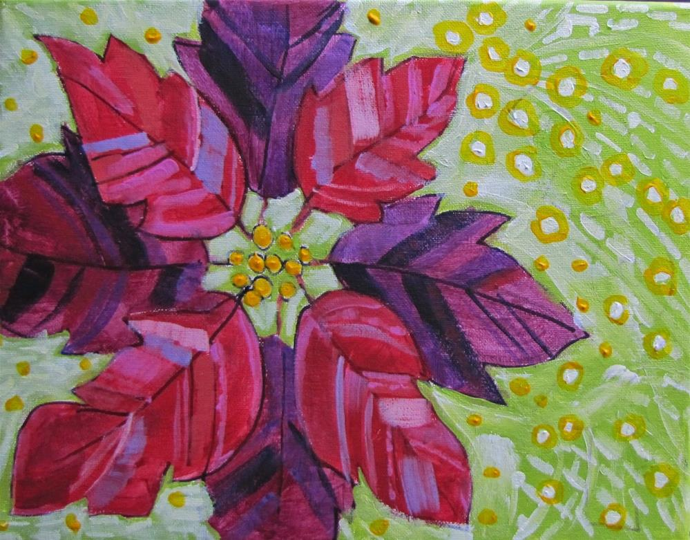"""Poinsetta"" original fine art by Christine Holzschuh"