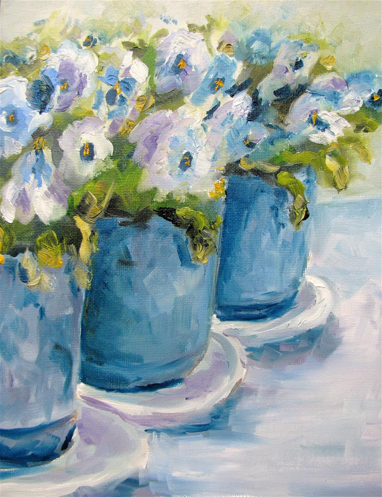 """Three Pots"" original fine art by Susan Elizabeth Jones"