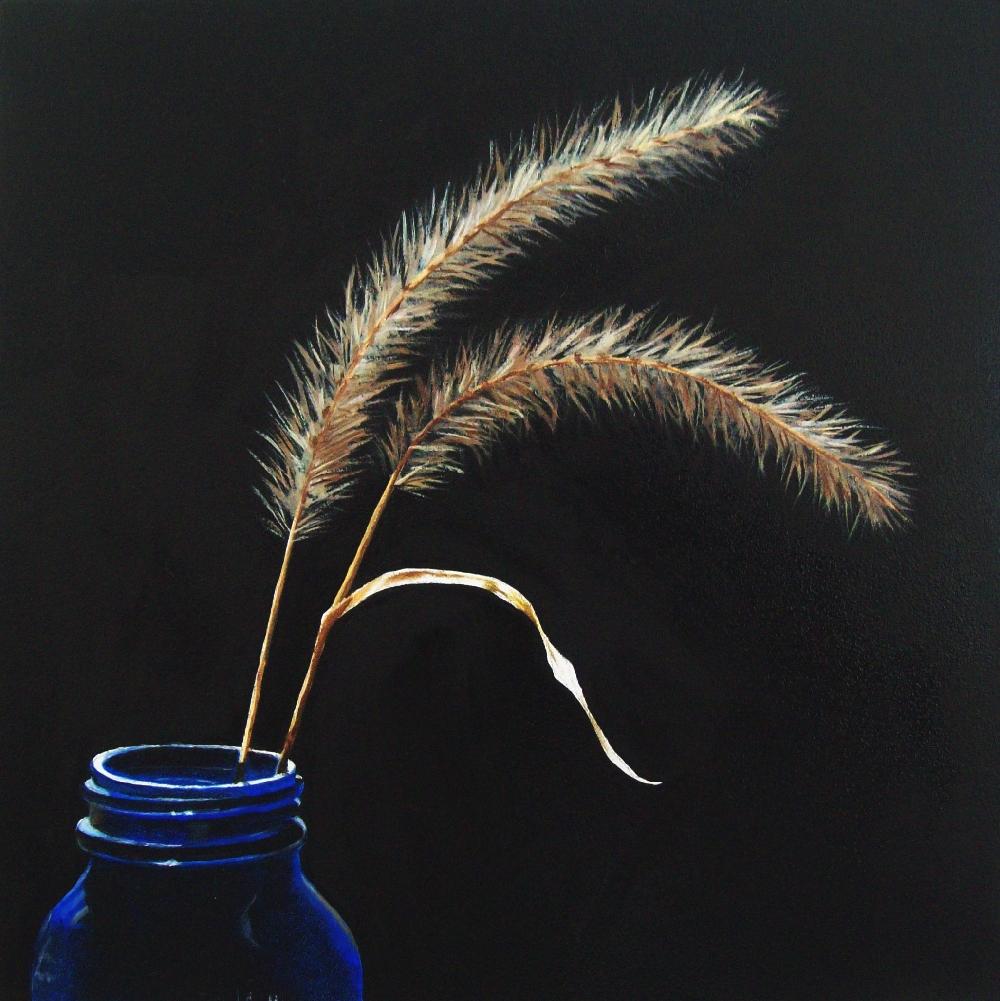"""Fall Grasses"" original fine art by Jacqueline Gnott, whs"