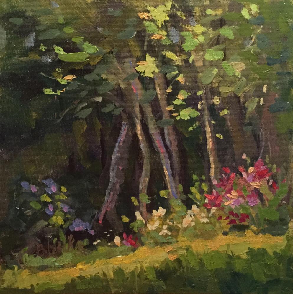 """Garden Walk"" original fine art by Barb Walker"