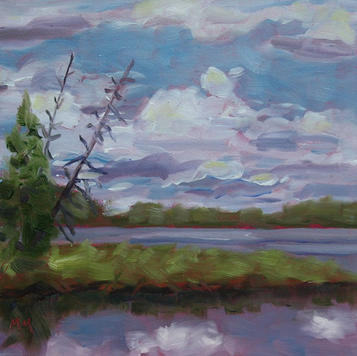 """Wolf Lake"" original fine art by Maria McNitt"