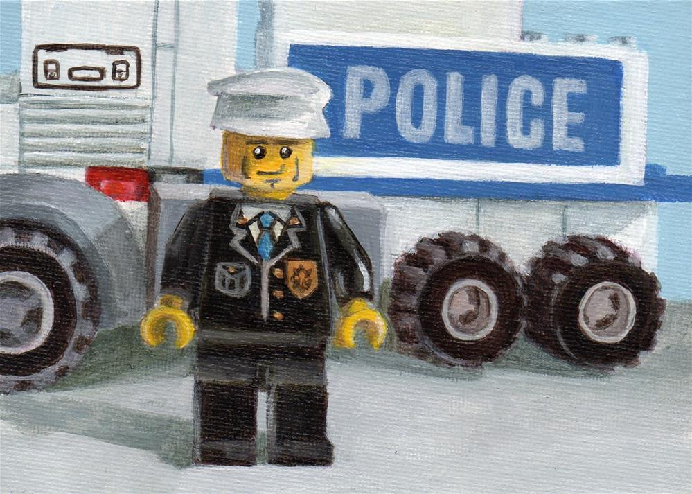 """POLICE"" original fine art by Debbie Shirley"
