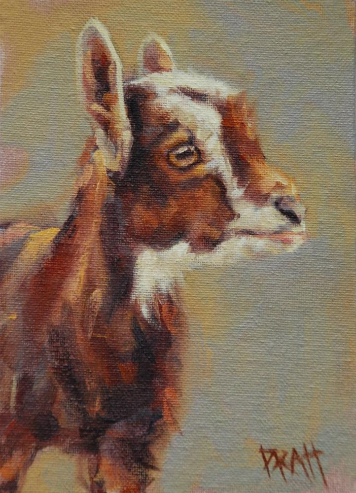 """Goat Contemplates Presidency"" original fine art by Jennifer Pratt"